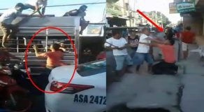 Road Rage Incident Between Taxi Driver & Group Of Men Caught On Camera