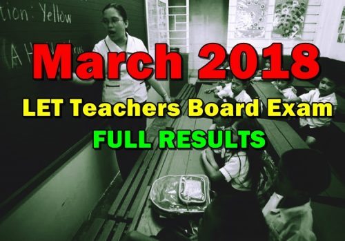 March 2018 LET Teachers Board Exam