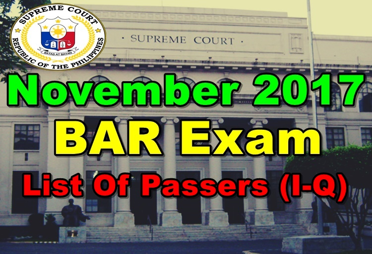 November 2017 Philippine Bar Exam