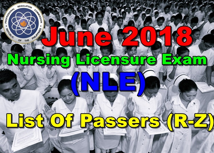 June 2018 Nursing Licensure Exam