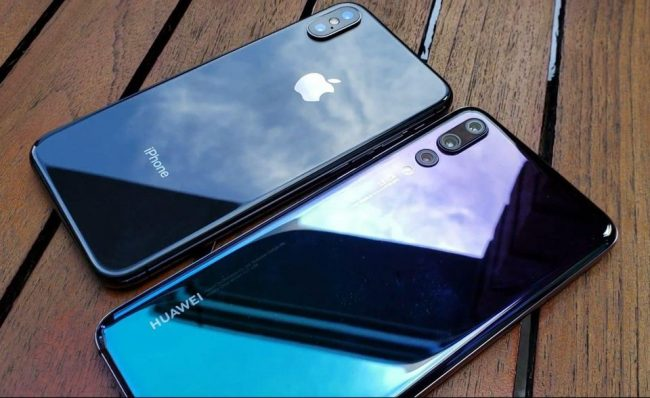 huawei p20 pro and iphone x