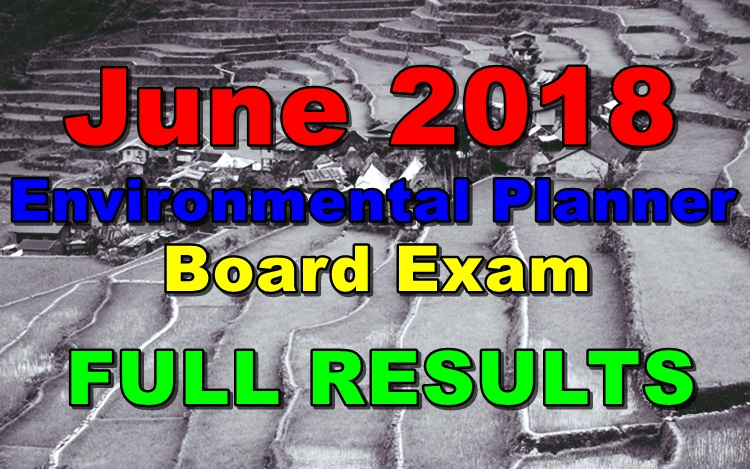 June 2018 Environmental Planner Board Exam