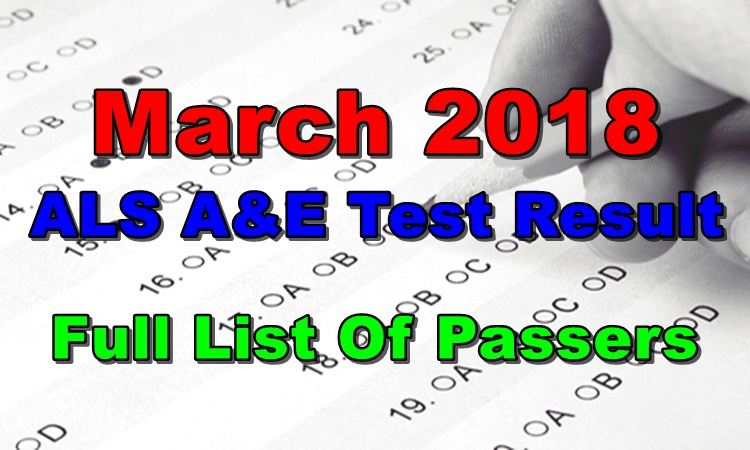 March 2018 ALS A E Test Result Full List Of Passers