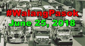 #WalangPasok: Class Suspensions On Monday (June 25)