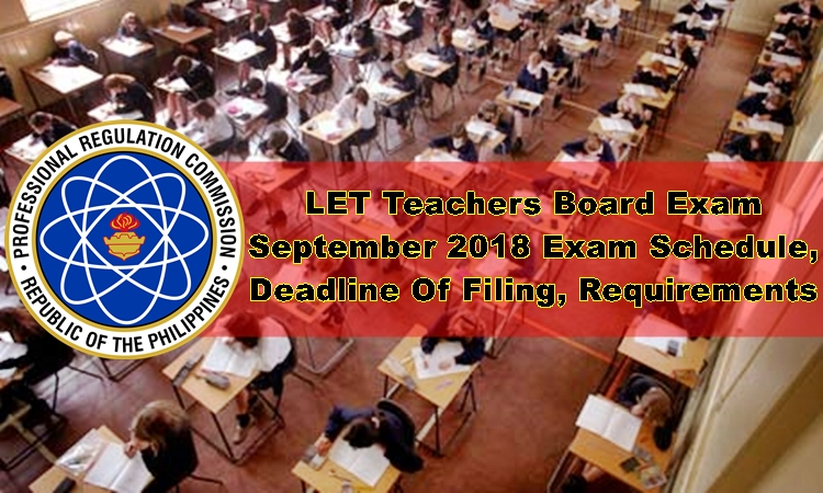LET Board Exam September 2018