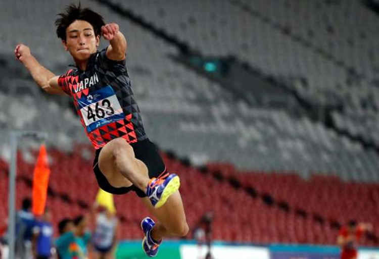 Japan's Yuki Hashioka in Men's Long Jump