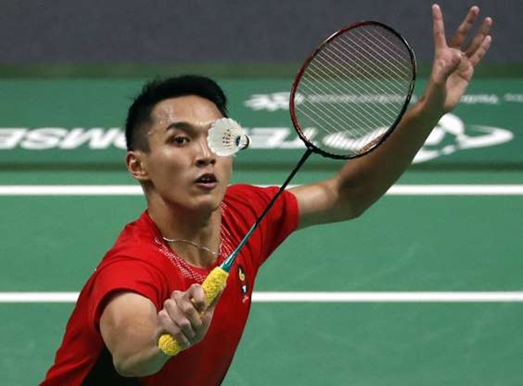 Indonesia's Jonatan Christie in Men's Single Badminton