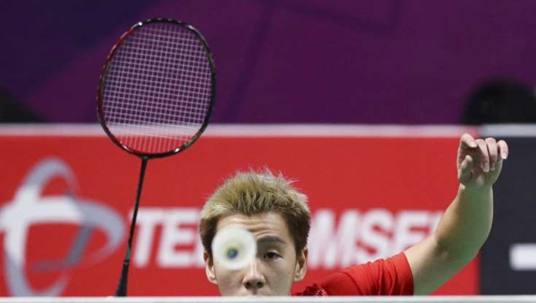 Indonesia's Marcus Fernaldi Gideon in Men's Doubles