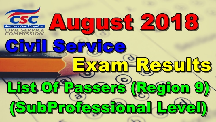 August 2018 Civil Service Exam Results