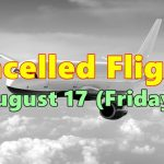 Cancelled Flights, August 17