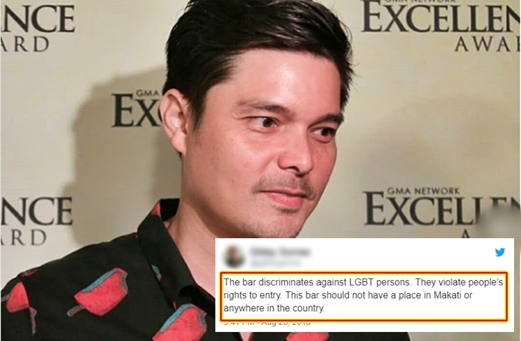 Dingdong Dantes Reacts To Bar Not Allowing LGBT People To ...