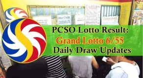PCSO 6/55 Grand Lotto Result Today: August 15, 2018 Draw