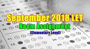 September 2018 LET Room Assignment Elementary Level (Zamboanga)