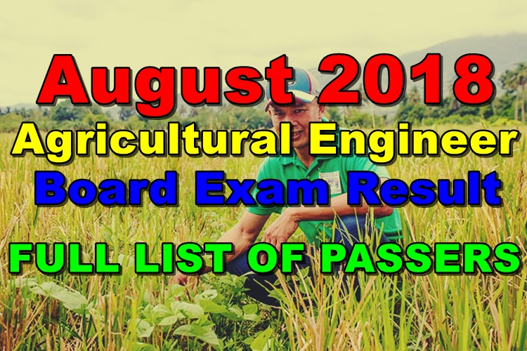 August 2018 Agricultural Engineer Board Exam
