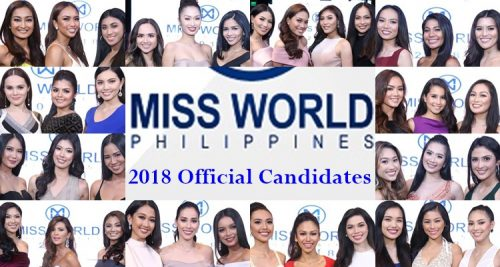 miss world philippines 2018 official candidates