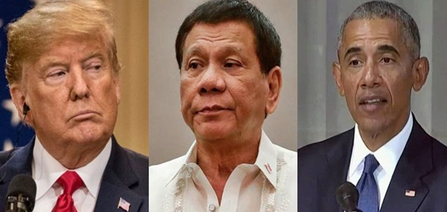Rodrigo Duterte, Barack Obama, Donald Trump