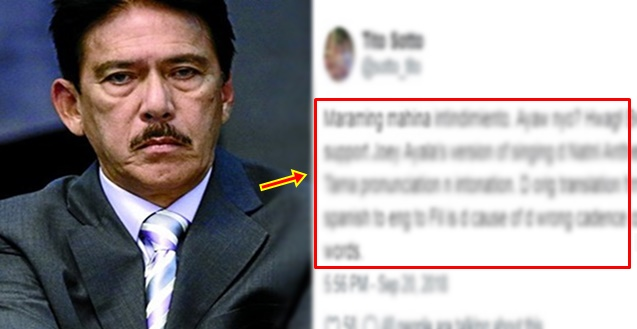 Sen. Tito Sotto on Revising Lupang Hinirang