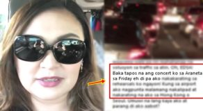 Sharon Cuneta Stuck In EDSA Traffic On Her Way To Her Concert Rehearsal