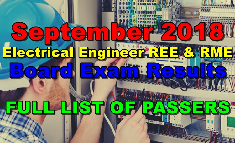 September 2018 Electrical Engineer REE & RME Board Exam