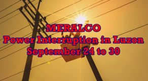 Meralco Scheduled Power Interruptions In Luzon From Sept. 24 To 30