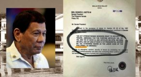 """Philippines"" Misspelled In Letter From Malacañang Signed By Duterte"