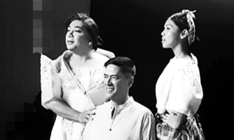 Vic Sotto, Maine Mendoza and Wally Bayola