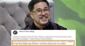 Aga Muhlach Controversial Statement Against Trillanes Criticized By Falcis