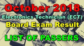 Electronics Technician (ECT) Board Exam Result October 2018 (List of Passers)