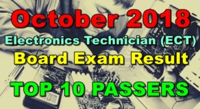 Electronics Technician (ECT) Board Exam Result October 2018 (Top 10 Passers)
