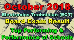 ECT Board Exam Result October 2018 (Top Performing & Performance of Schools)