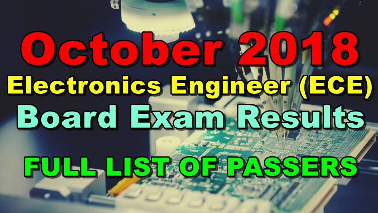 Electronics Engineer (ECE) Board Exam Results