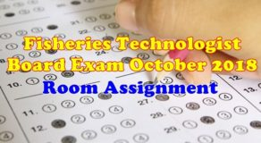 Fisheries Technologist Board Exam October 2018 Room Assignments (Full List)
