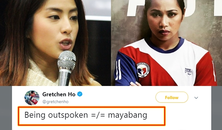 Gretchen Ho Supports Hidilyn Diaz