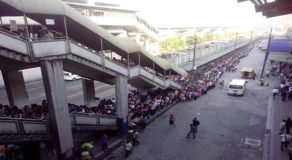 MRT-North Avenue Queue Line Almost Reaches Up To SM North