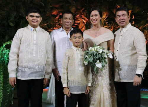 Pres. Rodrigo Duterte at Sen. Koko Pimentel's Wedding