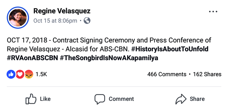Regine Velasquez Contract Signing