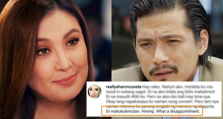 Sharon Cuneta Disappointed