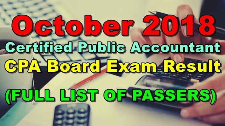 Certified Public Accountant CPA Board Exam Result