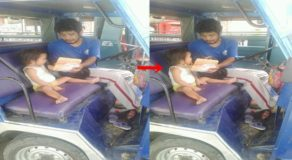Heartbreaking Photos Of Jeepney Driver Feeding his Daughter Goes Viral