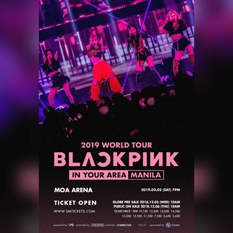 Blackpink Concert Ticket Prices Live In Manila February 2 2019