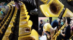 Netizen Shares Photos of Disgusting Seats In Panaad Stadium, Bacolod