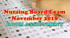 Nursing Board Exam November 2018 Room Assignment (Tuguegarao)