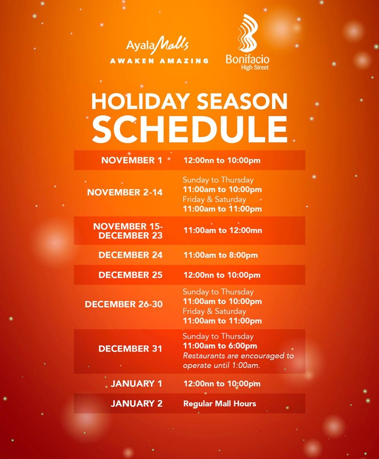 Philippines Mall 2020 Christmas Ayala Mall Hours Christmas 2020 | Yfypxq.newyear2020travel.info