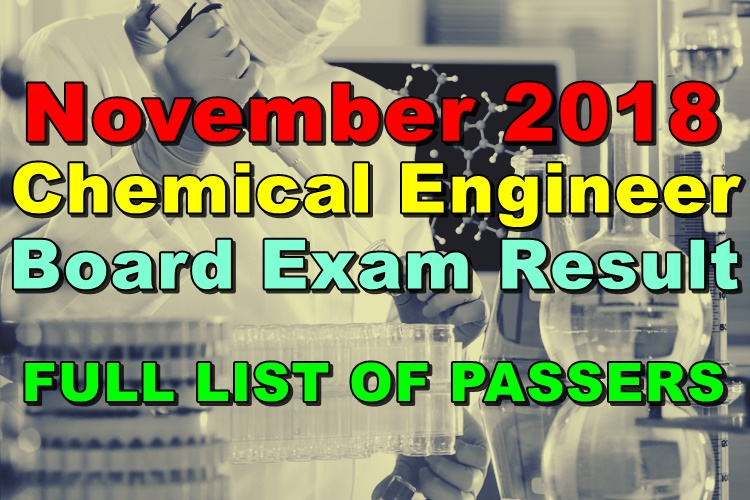 Chemical Engineer Board Exam Result