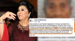 Imelda Marcos: FB Page Points Out Why She Should Be Arrested