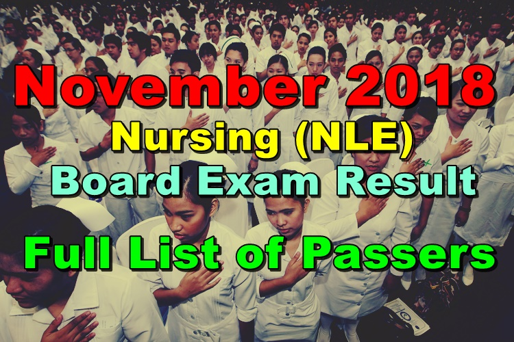 Nursing Board Exam Result (NLE)