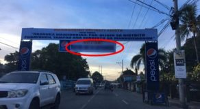Welcome Streamer Of Iloilo City Mayor Contains Wrong Spelling