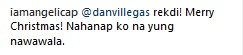 Angelica Panganiban Comment
