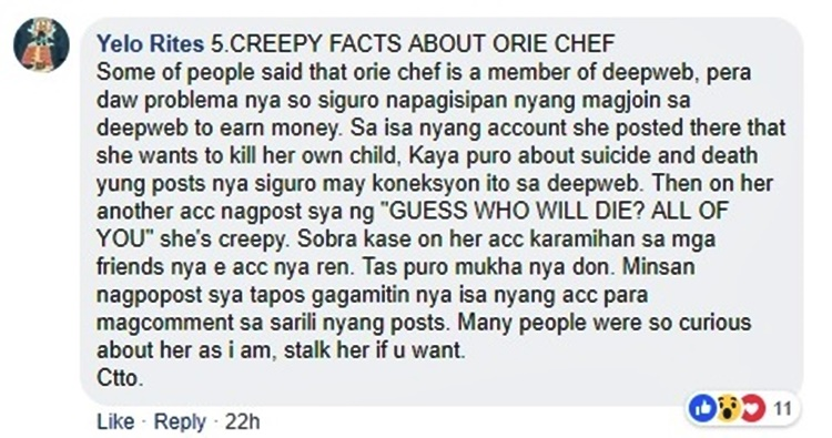 Orie Chef Creepy Theories