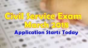 Civil Service Exam March 2019: Application Starts Today December 17, 2018